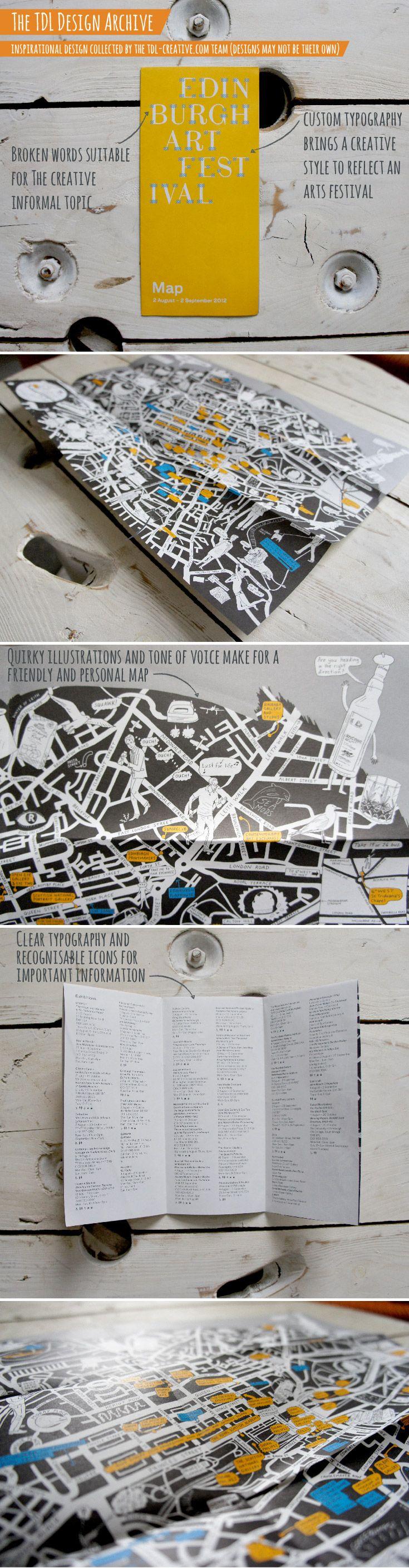 Edinburgh Art Festival - #Map #illustration