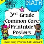 "Third Grade Common Core Standards ""I Can Statements"" - MATH ONLY - Save a ton of time by buying our pre-made third grade common core standards post..."