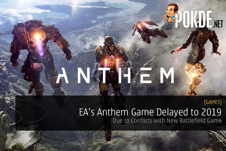 It would seem like EA's newest IP currently in development, Anthem, will be seeing a delay past 2018. The game will see a release some time in 2019 due to conflicts with the new Battlefield game.   Share this:   Facebook Twitter Google Tumblr LinkedIn Reddit Pinterest Pocket WhatsApp Telegram Skype Email Print