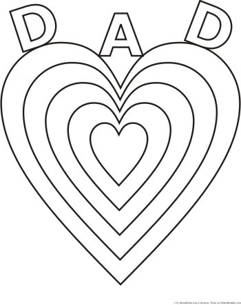 I love you dad coloring page Valentines day coloring