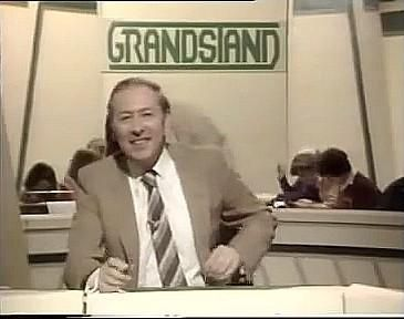 David Coleman presenting Grandstand