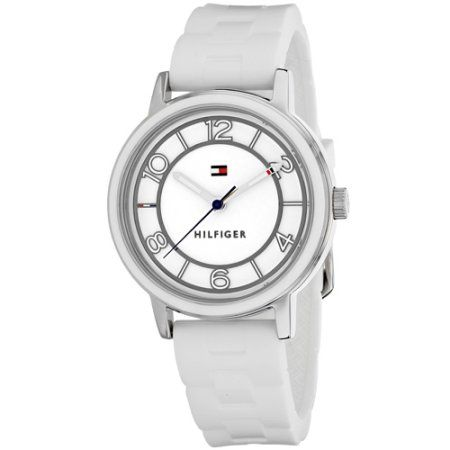 Tommy Hilfiger Silicone Ladies Watch 1781667, Size: 36 mm, White