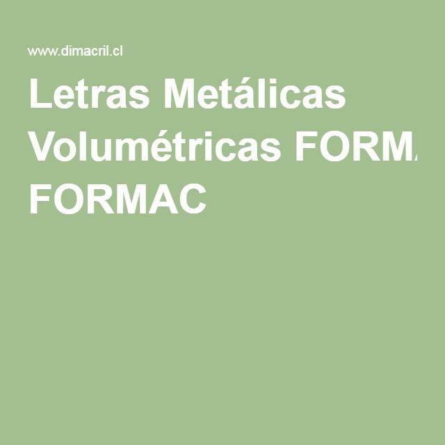 Letras Metálicas Volumétricas FORMAC