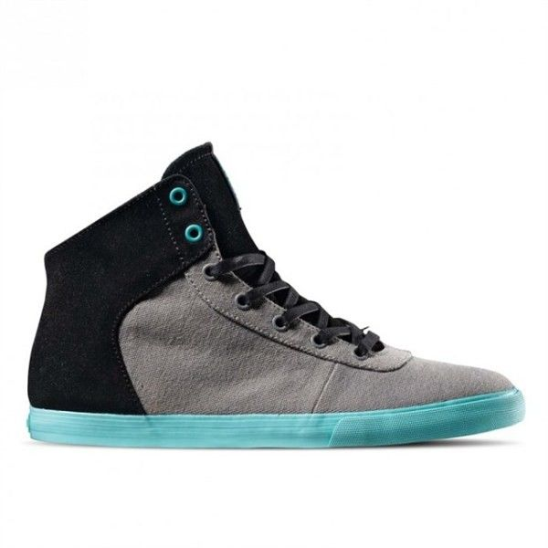 Supra Woman Cuttler Grey canvas/Black Suede - Footshop