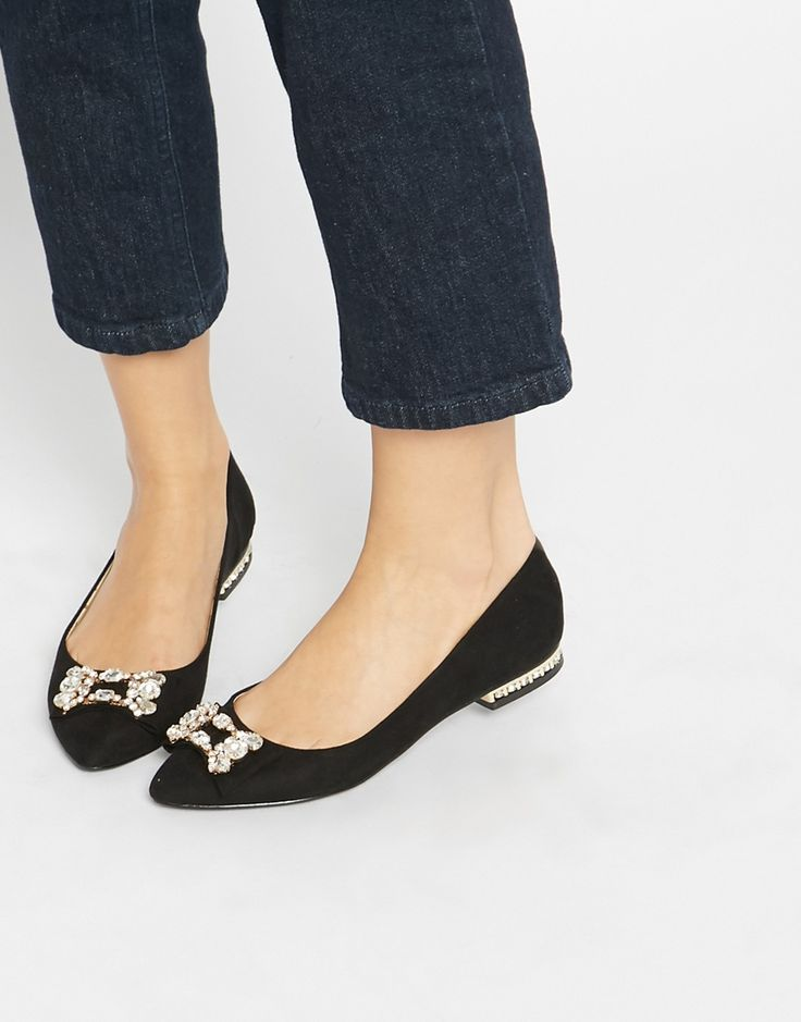 Oasis Embellished Pointed Flat Shoes
