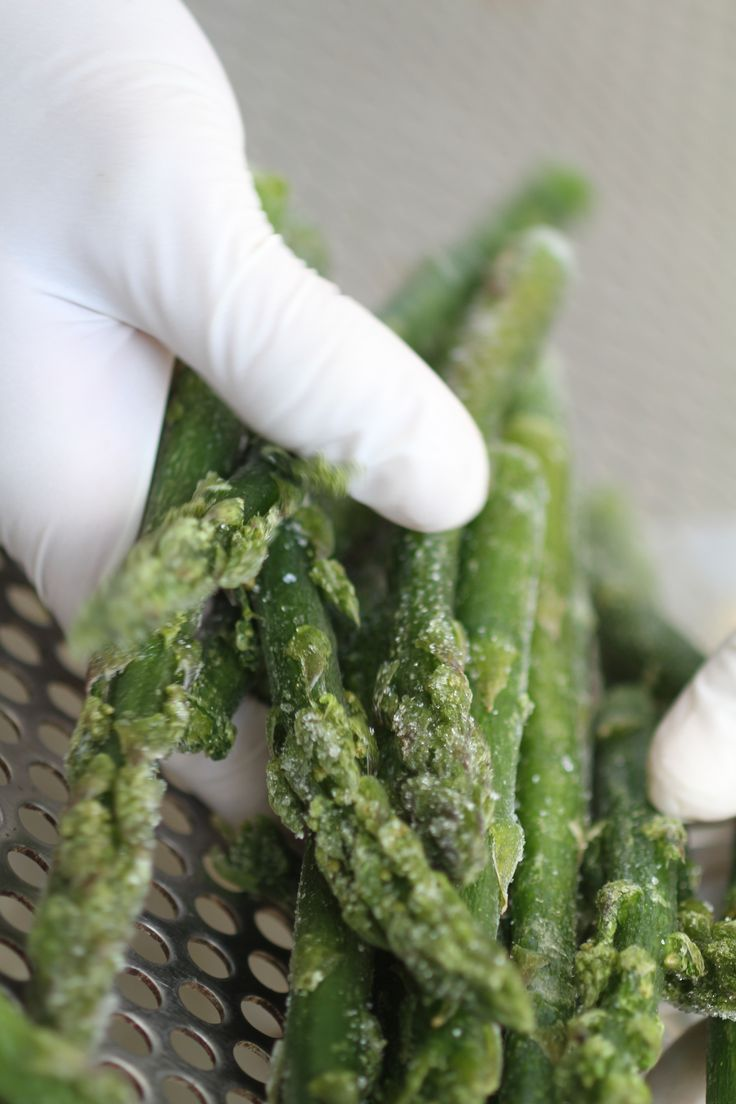 Asparagi verdi congelati, frozen green asparagus