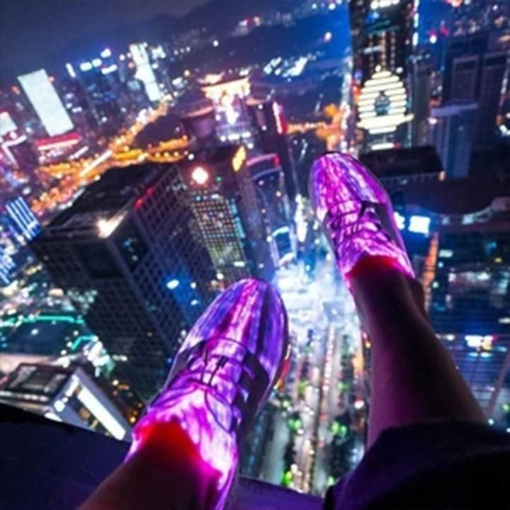 Fashion Luminous Fiber Optic Shoes – monyberry   Leuke