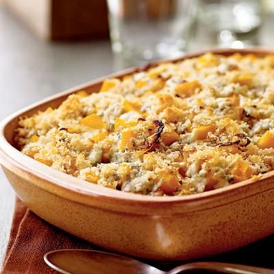 BUTTERNUT SQUASH GRATIN WITH BLUE CHEESE AND SAGE {THANKSGIVING RECIPE ...