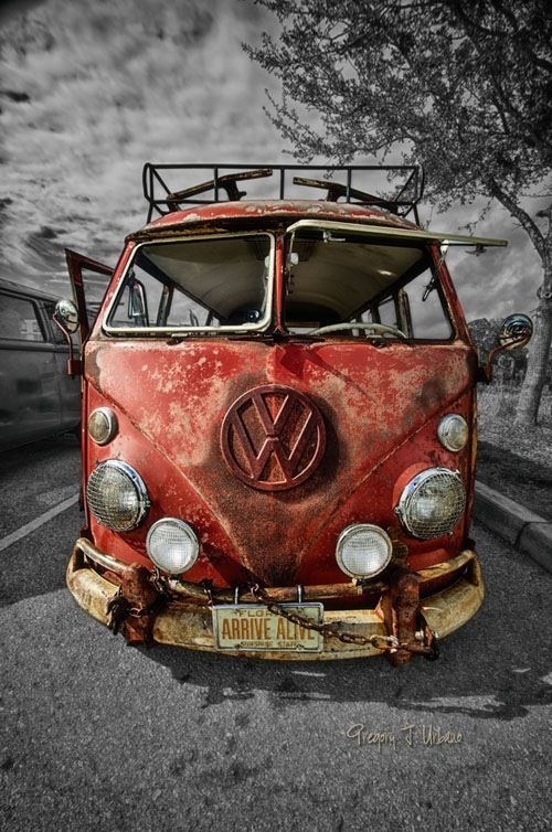 Volkswagen bus looks good even when drawn
