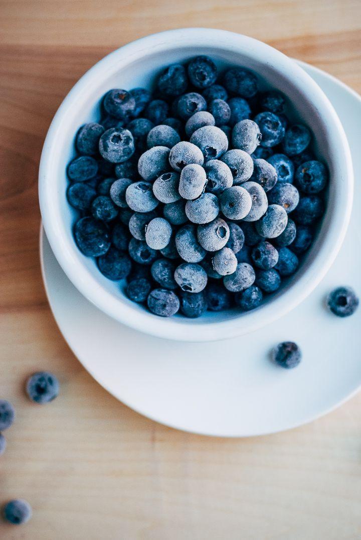 blueberry swirl sour cream ice cream // brooklyn supper