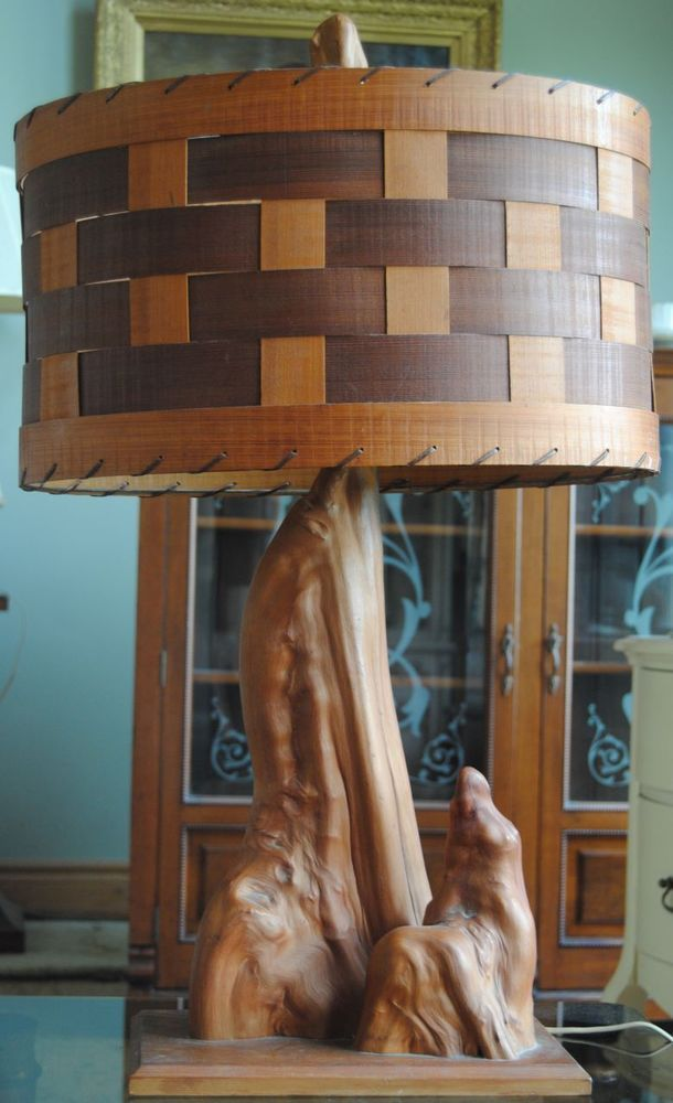 Rustic Vintage Handmade Driftwood Cypress Knee Lamp