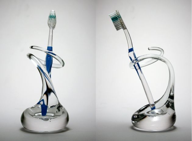 Glass Toothbrush Holders by Brad Turner » CONTEMPORIST