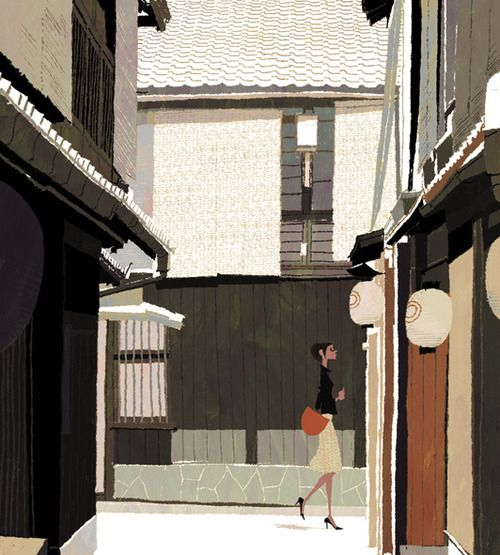 Japanese Illustration: Ura-dori. Tadahiro Uesugi. 2007
