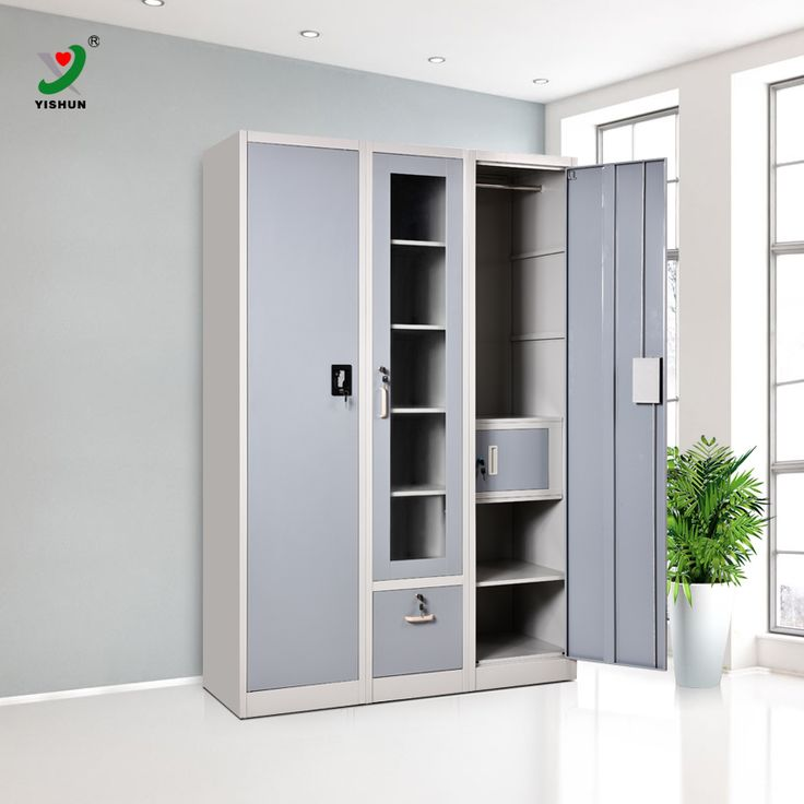 Source New arrival 3 door indian bedroom godrej steel almirah wardrobe  designs
