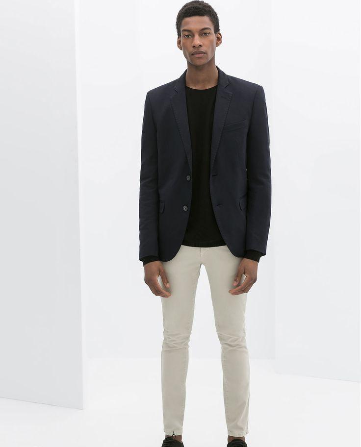 Image 1 of PLAIN NAVY BLUE BLAZER from Zara