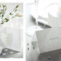 Des invitations et marque place en papier ... la carte cœur est à copier pour la fête de mamans !