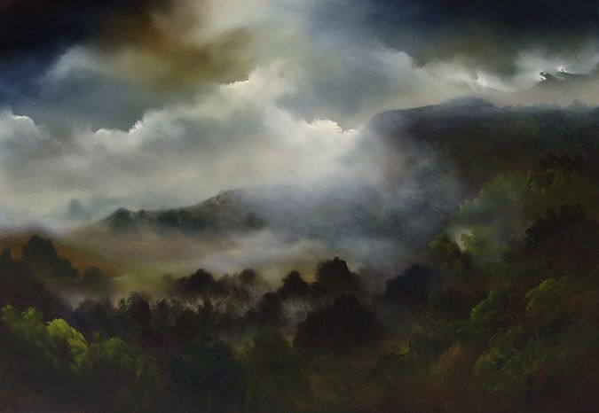 Exhibition Opening August 26 Elaine Green Because The Mist Changes Everything oil on canvas 80 x 120 cm