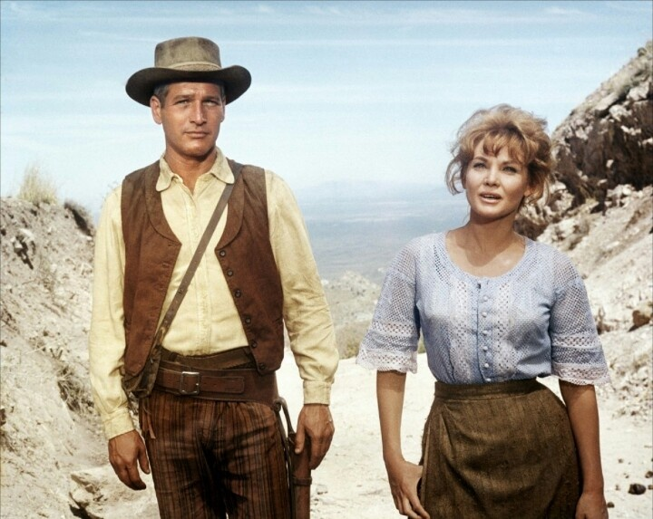 "**Hombre (1967) Paul Newman, Fredric March, Richard Boone - Director: Martin Ritt IMDB: John Russell, disdained by his ""respectable"" fellow stagecoach passengers because he was raised by Indians, becomes their only hope for survival when they are set upon by outlaws. - - REMOVED FROM 2013 EDITION"