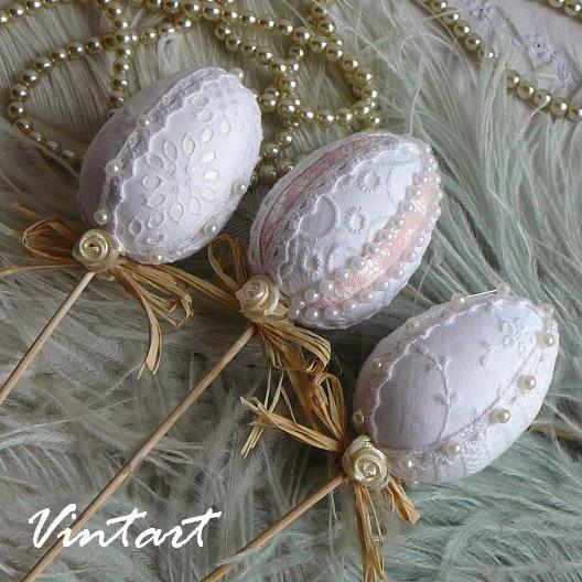 Velikonoční dekorace- zápich shabby chic