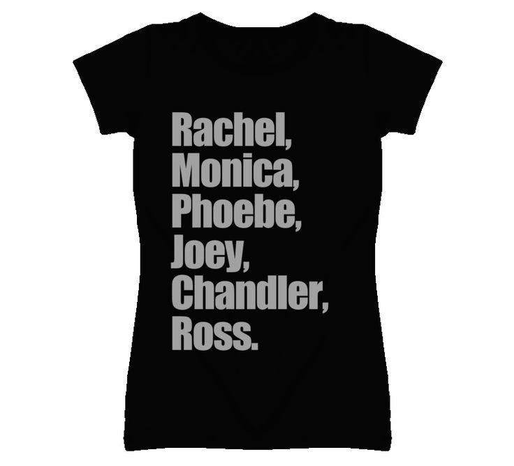 Rachel Monica Phoebe Joey Chandler Ross Friends Graphic T Shirt