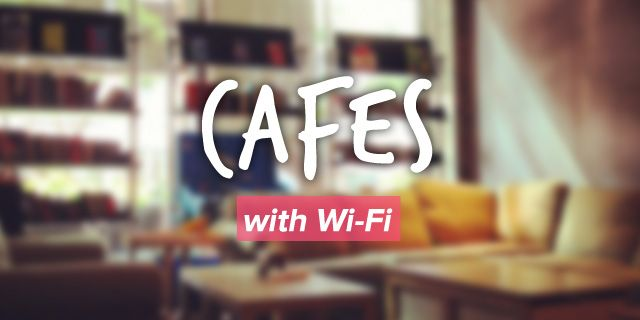Cafes With Wifi. As written on Burpple Guide: http://www.burpple.com/guides/singapore/cafes-with-wifi
