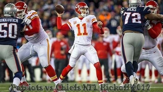 https://patriotsvschiefs.com/ The Kansas City Chiefs take on the New England Patriots in 2017 NFL Week 1.    Patriots vs Chiefs Live Stream