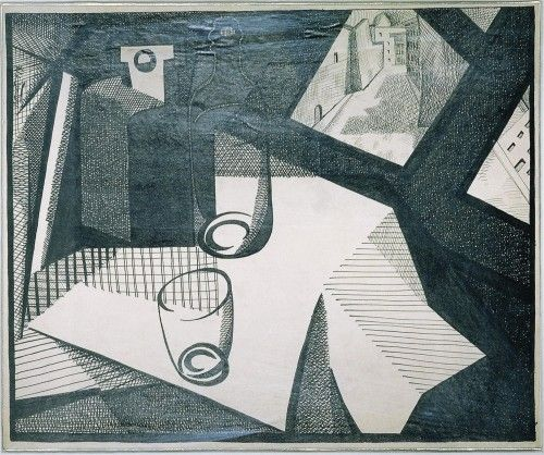 Pettoruti, Emilio -   Mi ventana en Florencia  1917