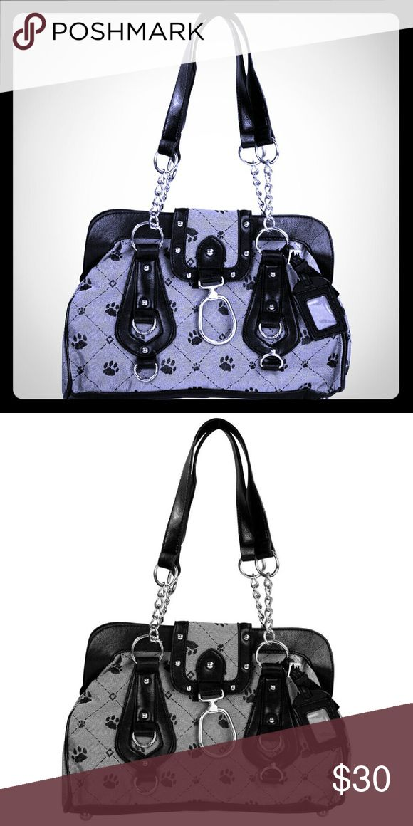 "Brand New Paws & Hearts Satchel Brand New Paws & Hearts Satchel  Zip top closure & magnetic latch cover, ID tag included, One zippered interior pocket & two open pockets & Four metal feet. 8.5"" H x 12.5"" W x 4"" D. New without tags. Greater Good Bags Satchels"