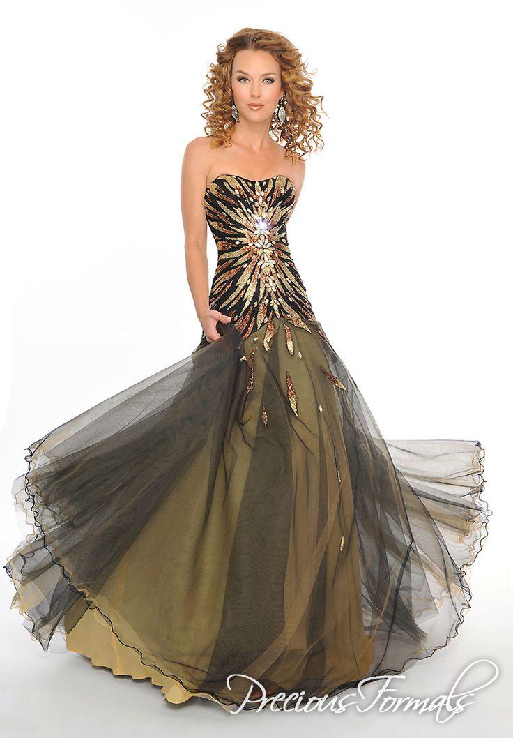 Trendy Gold And Black Bridesmaid Dresses