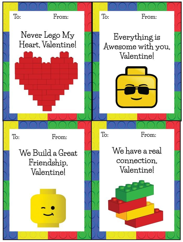 Lego Valentines Free Printable from The Jenny Evolution