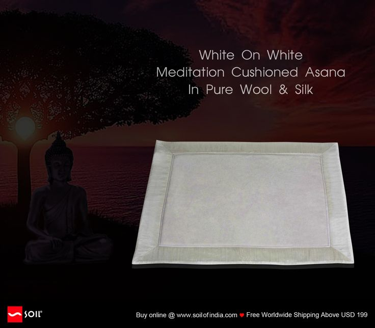 Hand made in pure wool and pure silk these asanas are made with love for those who seek the gift of bliss. As per the shastras (sacred scriptures) there are three different variants of asanas: White represents peace and bliss; Red is for power and control and Yellow is for wealth. The Asana / Seat can be placed in your home or office and could well be rolled and carried while travelling. Gift one to yourself or your loved ones and gain the blessings of gratitude. https://goo.gl/Zs4JE9