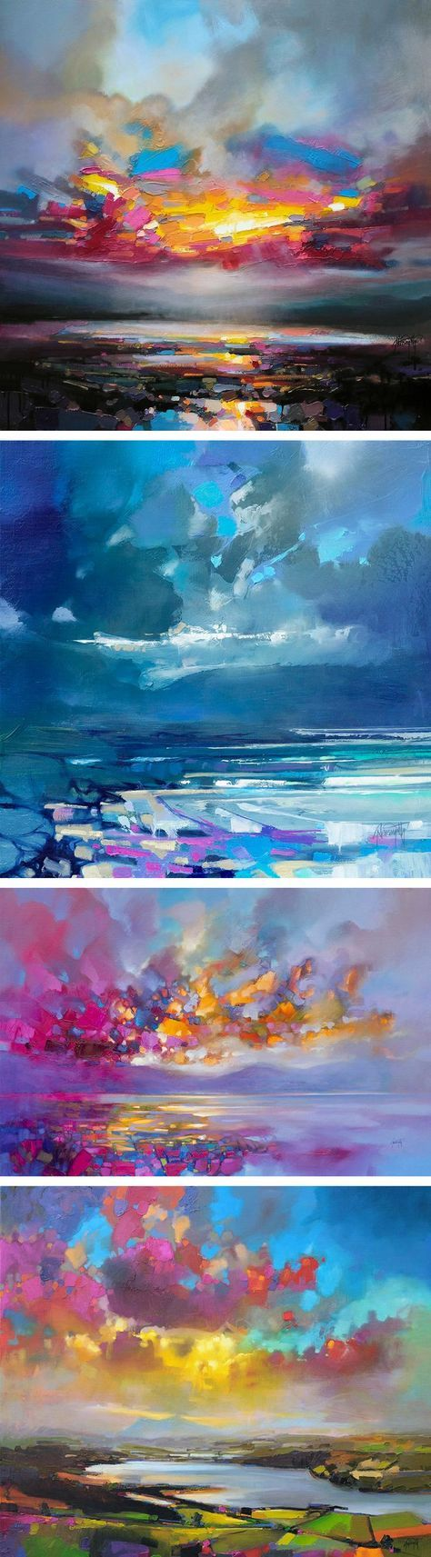 Saatchi art oil painting rural landscape at dawn painting by - Vibrant Oil Paintings Of Scottish Landscapes By Scott Naismith More