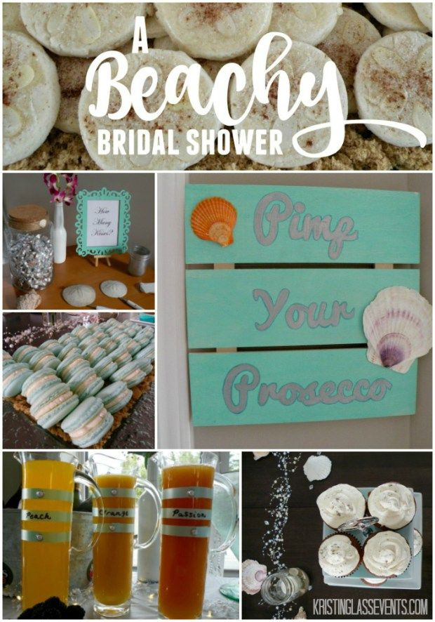Decor ideas for a beachy bridal shower from Kristin Glass Events