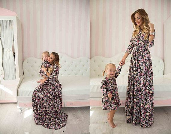 Little rose  matching floral mother and me dresses family