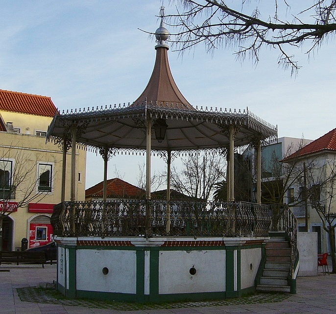 Bandstand of the city of Amora, municipality of Seixal, Portugal
