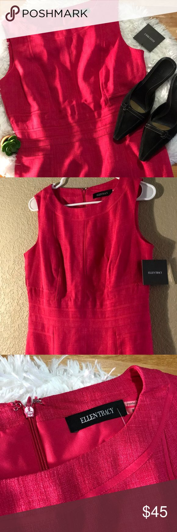 """NWT Ellen Tracy Rose Sleeveless Dress New with tags  All measurements are taken laying flat  18"""" armpit to armpit  38"""" length- top of shoulder to bottom hem Ellen Tracy Dresses Midi"""