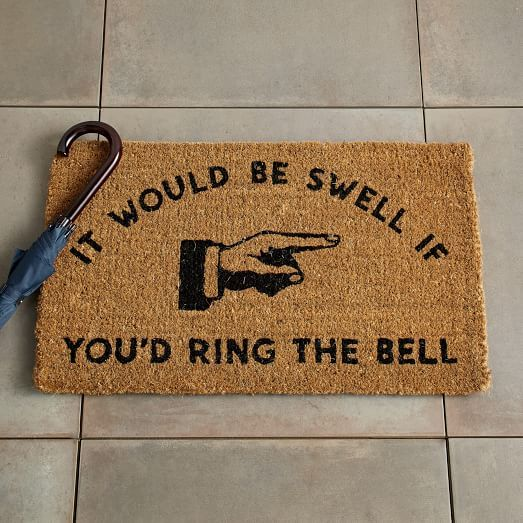 It Would Be Swell Coir Doormat | west elm