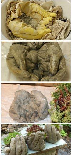 Hands Planter ~ tutorial