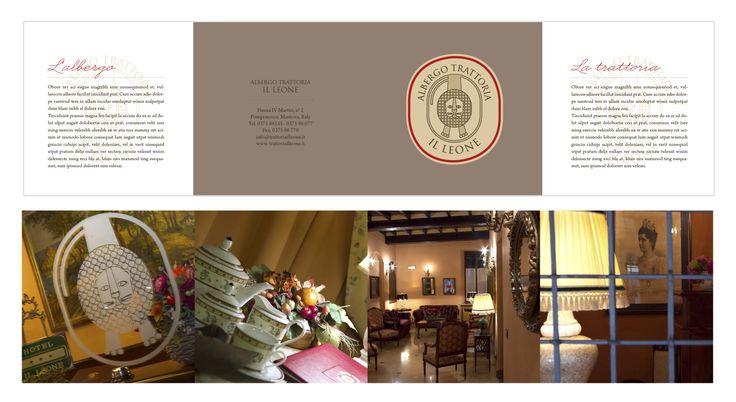 Brochure di presentazione per l'albergo/ristorante.