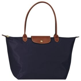 Longchamp Tasche Le Pliage Large Folding Tote Stiel Navy