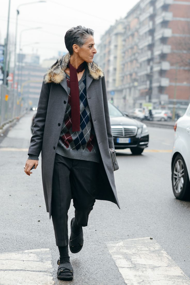 Tie Game: Boyish Looks at the Men's Shows - Gallery - Style.com. A more relaxed take, layered over an argyle V-neck and trousers.
