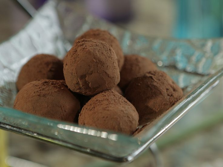 Chocolate Coconut Bourbon Truffles recipe from Damaris Phillips via Food Network