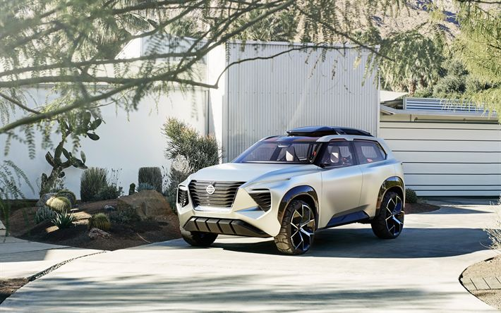 Download wallpapers Nissan Xmotion Concept, 2018, SUV concept, new cars, Japanese cars, Nissan