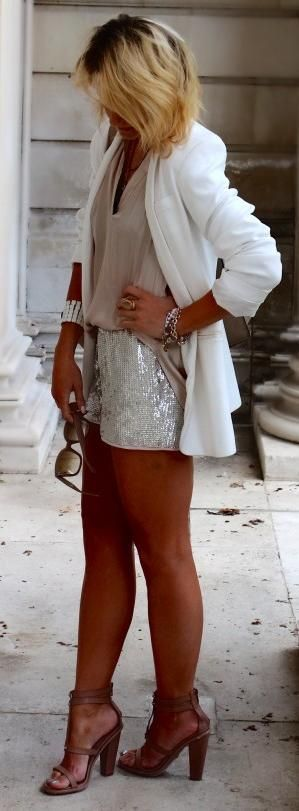 19 Trends In Blazers- Women*s Fashion 2013- length of jacket, 3/4 sleeve , jewellery. The dress could be used for going out. Pop a pink cardi and pink stilettos . Versatile business and going out dinner