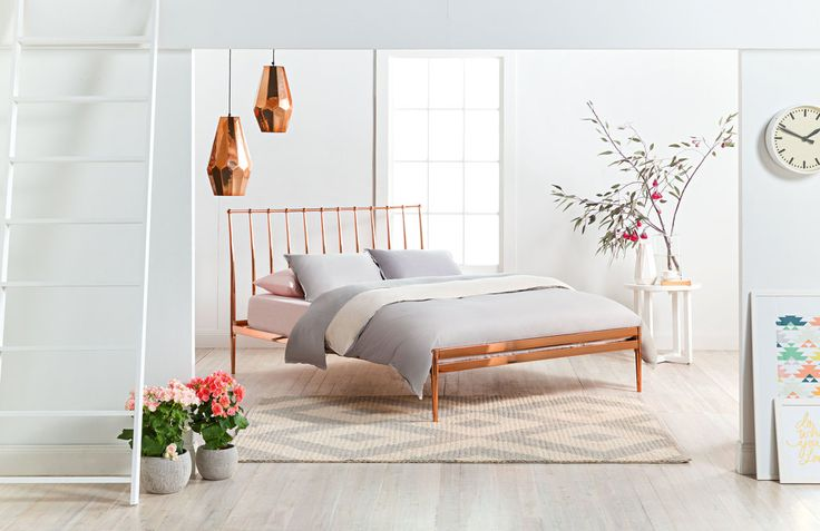 metallic rose gold bed - Google Search