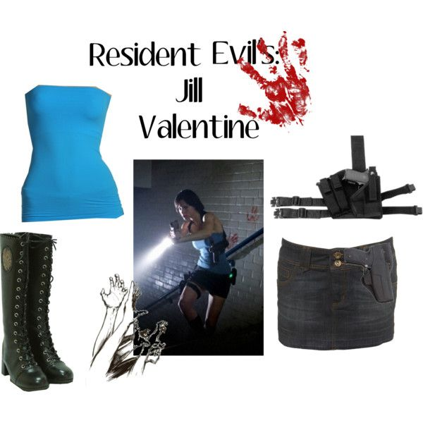 Halloween Costumes : Resident Evil's Jill Valentine, created by missspooky77 on Polyvore