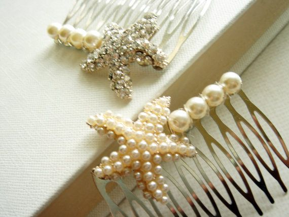 Beach Wedding Starfish Hair Comb. Bridesmaid Hair by Ausentes, $18.00