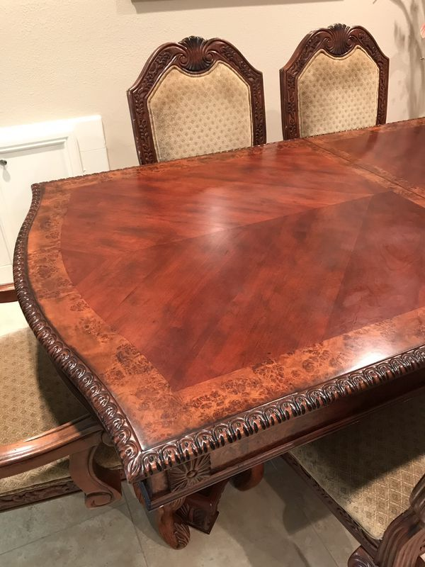 Formal Dining Table Wood With 6 Chairs For Sale In Bellaire Tx Offerup Formal Dining Tables Formal Dining Room Sets Dining Table