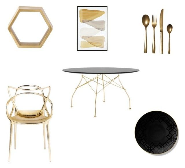 """""""Dining room..."""" by leigh-ann-griffiths on Polyvore featuring interior, interiors, interior design, home, home decor, interior decorating, Kartell, ferm LIVING, Seletti and B by Brandie"""