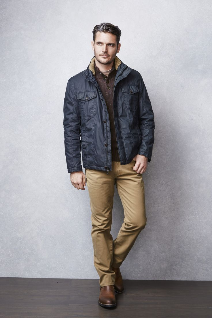 Rugged & Refined: Weekend-wear done right with casual layers and boots. #MensFashionRugged